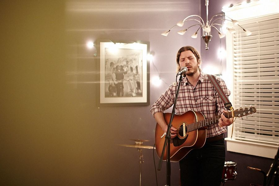 Photo by Courtney Davidson - This is from a house show I played in Nashville on Sunday night with Besides Daniel, Molly Parden, and Preston Lovinggood.