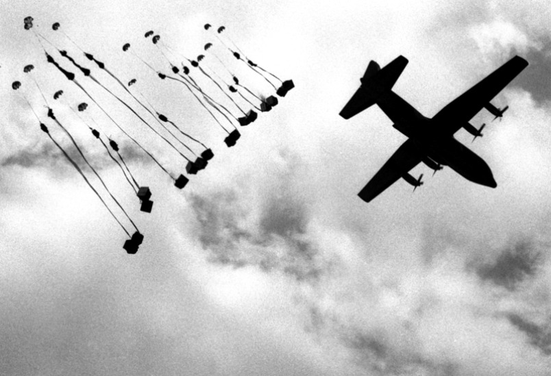 collectivehistory:  Supply drop during Operation Junction City. March 11, 1967