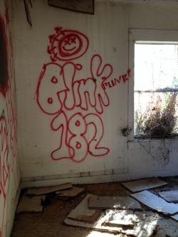 graffiti blink 182 abandoned abandoned house Exploring