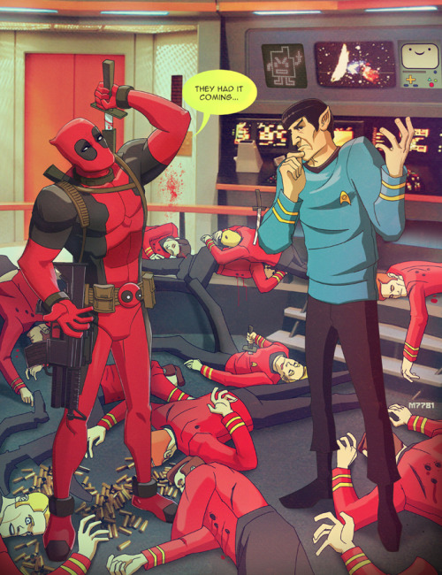 Star Trek X Deadpool Illustration by Marco D'Alfonso DeviantART ll Website ll Tumblr ll Store