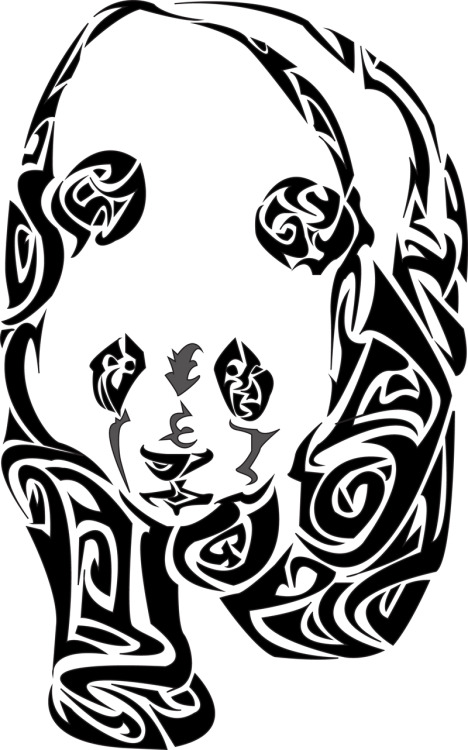 © 2013 Megan Yiu. Panda!!! :] In my tribal style.