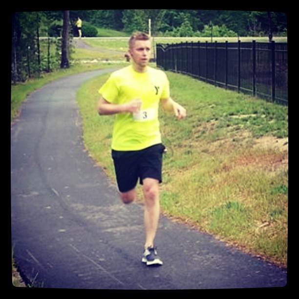 I came in 5th with a time of 20:26 #photos #me #ymca #gym #5k #run #race #fitness #springfling