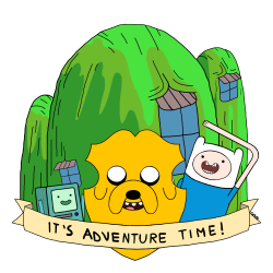 Finn and Jake heraldic shield  Artist: Tumblr / Twitter / Bigcartel / Society6 shop