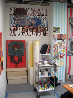 A view of my studio in Brooklyn, NY. Seamus Liam O'Brien