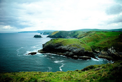 Coast near Tintagel by Zanthia on Flickr.