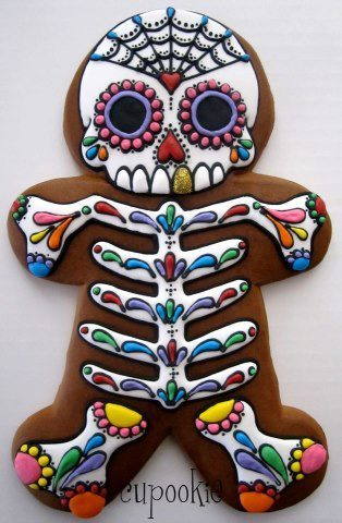 Best gingerbread man ever? Via Skeletons in the Closet.