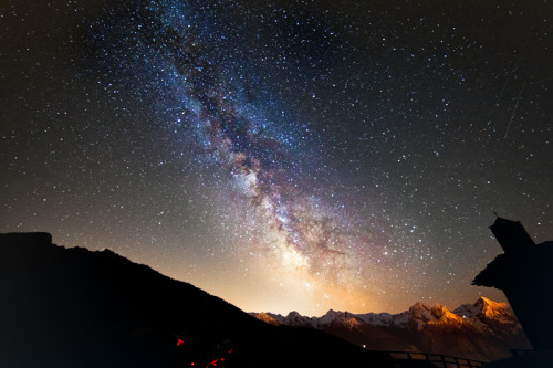 Milky Way over the Italian Alps — Leonardo Orazi