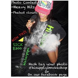 Phattest hit 420 contest held by HI SUPPLY SMOKE SHOP going on now. All you have to do is upload your pic to HI SUPPLY SMOKE SHOPS Facebook or hash tag your picture on Instagram with #hisupplysmokeshop for a chance to win. Winner chosen on 4/20. Winner will receive this epic bong! @hisupplysmokeshop @hisupplysmokeshop @hisupplysmokeshop