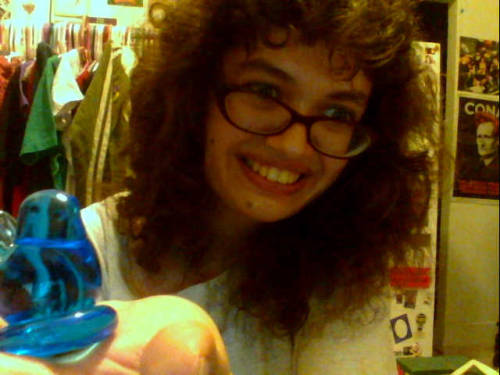 Shannon gave me this totally adorable blue canary!