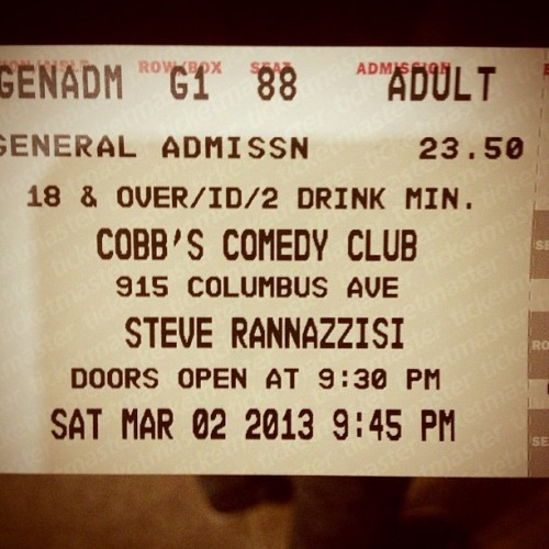 Kevin from The League. Make me laugh funny man. (at Cobb's Comedy Club)