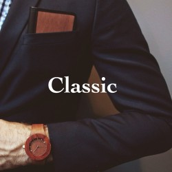 All natural wood and leather = classic www.analogwatchco.com
