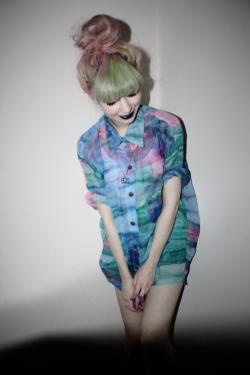 fashion hipster Alternative alternative girl grunge fashion green hair hipster fashion