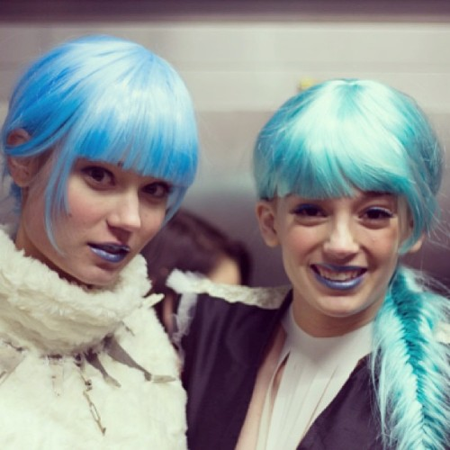 Bright blue hair, lips & kicks (not pictured) from night 1 of #kcfw @kcfashionweek #kc #kansascity #fashion #beauty