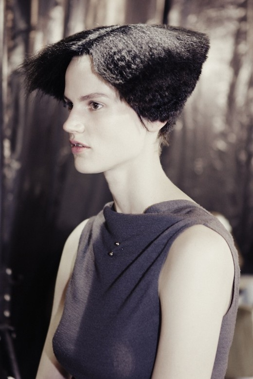 Hair by Luigi Murenu for Rick Owens spring 2013.