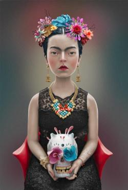 lacarpa:  FRIDA by Felipe Bedoya  Flickr Behance