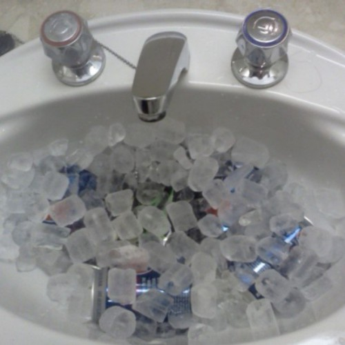 Bought ice for our drinks last night. #Ice #Cool #ColdDrinks #Refresh #Pepsi #Monster #Hotel #CleverIdea