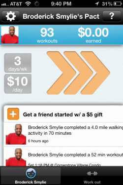 Another GymPact complete! Love this app. It's amazing how much it motivates me to keep on going
