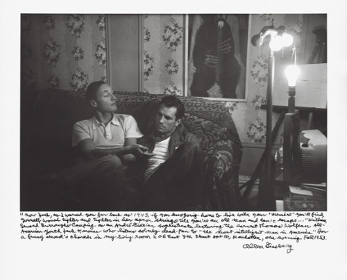 Holy literary smokes. William S. Burroughs & Jack Kerouac by Allen Ginsberg.