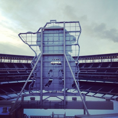 scaredpanda:  Only a couple more months. #minnesota #minneapolis #twins #winter #cold #mpls #targetfield #sunset (at Target Field)