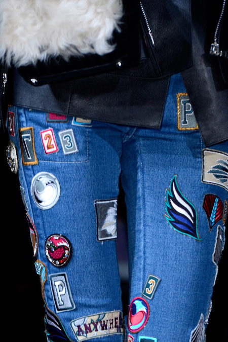 The patches adorning 3.1 Phillip Lim's denim in the fall 2013 show make me wish I kept my collection from middle school. -Becky Malinsky