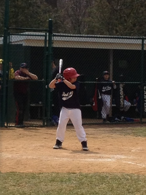 Zach at bat