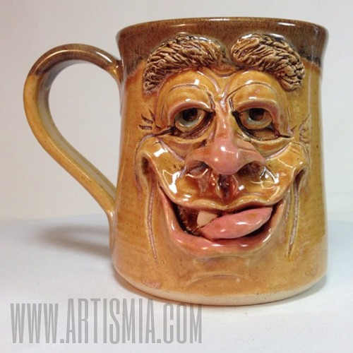 Face Mug of the day. (002119) MF278 Available now at Artismia. #pottery #ceramics #artismia #facemugs