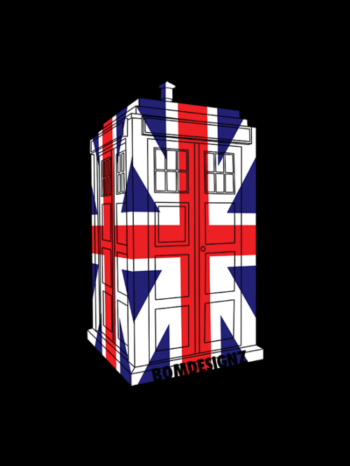 BRAND NEW doctor who design! See it here(t-shirt, iphone/ipad case) http://www.redbubble.com/people/bomdesignz/works/9777430-tardis-in-uk-flag-3d