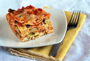 "Roasted Vegetable Lasagna(Seriously,  CCers—this is, hands down, the BEST lasagna I have ever had!!!)For the Veggies:1/2 cup extra virgin olive oil1 large zucchini, sliced 1/4"" thick1 medium eggplant, sliced 1/4"" thick1 large red onion, sliced 1/4"" thick2 large tomatoes, sliced 1""/4 thickSalt and pepper to tastePReheat oven to 400-deg.  Lay all the veggies on a large baking sheet and sprinkle generously with salt and pepper.  Coat with the olive oil and toss with your hands, making sure each veggies is seasoned and covered with oil.Roast in the oven for 45 minutes or until soft in the centers but crisp and caramelized on the outside.  Set aside, leaving the veggies on the baking sheet.For the Layers and Filling:8 oz uncooked lasagna noodles1 lb ricotta cheese12 oz mozzarella, shredded3/4 cup parmesan cheese, shredded 3/4 cup pecorino cheese, shredded 8 oz sour cream1/2 cup Italian parsley, chopped1/2 tsp salt3 large eggs, beatenMix together the ricotta, sour cream, eggs, and salt together in a large bowl.  In a separate bowl, toss together the parmesan and pecorino, then stir into the ricotta mixture.  Set aside.Cook the noodles in salted boiling water for 10 minutes, being careful not to overcook as they will continue to cook in the oven.For the Bolognese Sauce:4 tbsp olive oil4 large garlic cloves, minced1 yellow bell pepper, chopped1 green bell pepper, chopped42 oz canned fire roasted tomatoes24 oz tomato paste2 tbsp fresh rosemary, chopped1 tbsp sugar1 bay leaf2 yellow onions, chopped8 oz white mushrooms, sliced2 cups vegetable stock2 tbsp salt1/2 tsp cayenne pepper5 tbsp fresh basil, chopped1/2 cup fresh Italian parsley, chopped In a large Dutch oven, brown the onion in the olive oil over medium-high heat, then add the garlic and saute an additional minute.Add the remaining sauce ingredients (except the parsley), stirring well to combine.  Simmer for 90 minutes, uncovered, until most of the liquid reduces.  Stir in the parsley, then continue to let reduce.  Remove the bay leaf, then taste and season with salt and pepper if necessary.Arrange the lasagna:  In a deep baking dish that's been greased, spread a layer of sauce on the bottom, then top with three lasagna noodles.  Layer three noodles side-by-side, then spread a third of the ricotta mixture over them.  Sprinkle with a fourth of the mozzarella cheese, then a third of the sauce.  Follow with a third of the roasted veggies and top with a fourth of the parmesan-pecorino cheeses.Repeat twice more, finishing with the mozzarella and parmesan-pecorino cheeses.Bake at 325-deg for 45 minutes or until golden.  Let sit 15 minutes before slicing and serving.  (FYI, the leftovers of this one are AMAZING.) Approximate Nutritional Values:  http://www.food.com/recipe/roasted-vegetable-lasagna-25460"
