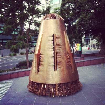 "Pretty sure there is a Dalek disguised as ""art"" in the middle of Brisbane. (at King Edward Park)"