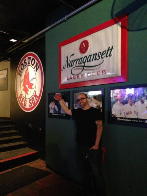 It's Friday! Enjoying a 'Gansett and some Red Sox history at Who's On First by Fenway. Check out the vintage sign from the 60's.