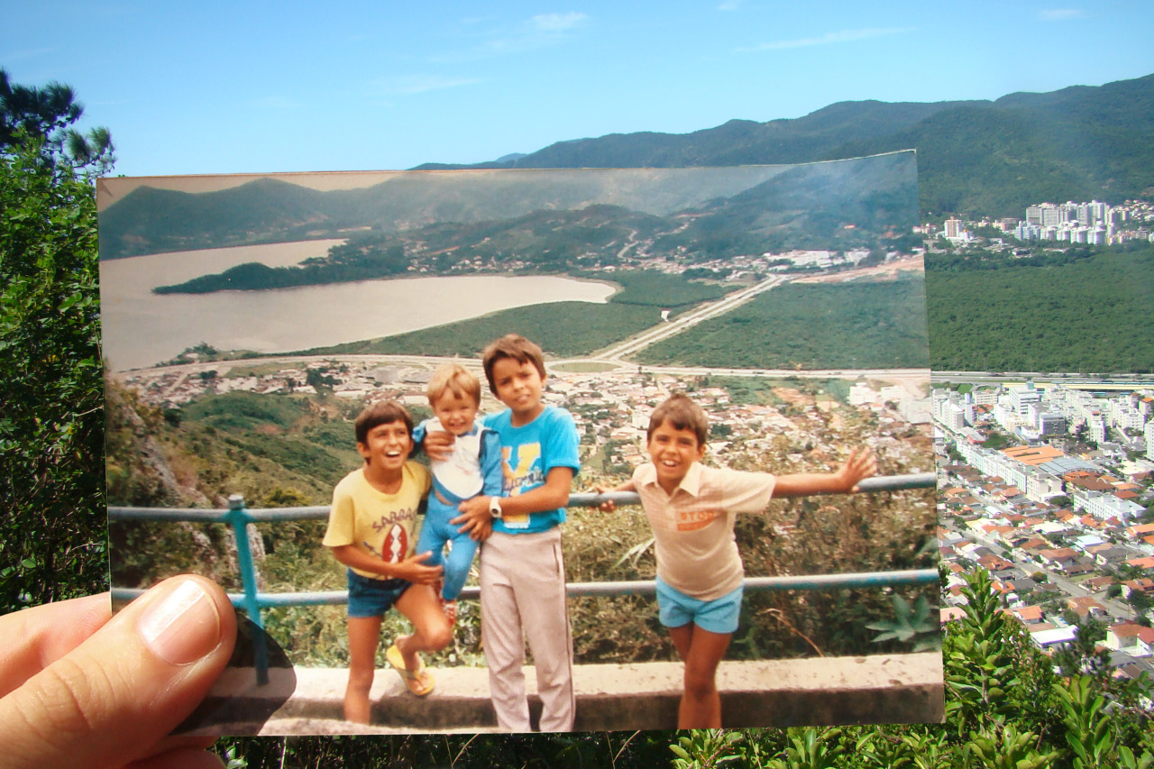 Dear Photograph, Florianopolis, Brazil twenty-five years ago my older brothers and I loving life in Brazil. Even though we have grown older and taller we'll always stand side by side. Alexandre