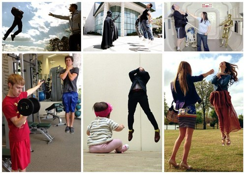 thedailywhat:  Photo Fad of the Day: Hadoukening Inspires Vadering This is America's answer to Hadokening, the latest Dragon Ball-inspired Twitter meme from Japan. Hat tip goes to Kotaku! See more at Know Your Meme