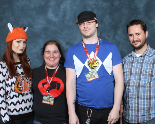 Myself, Kori, Wil Wheaton, and Felicia Day. aka, Nerds standing around awkwardly.