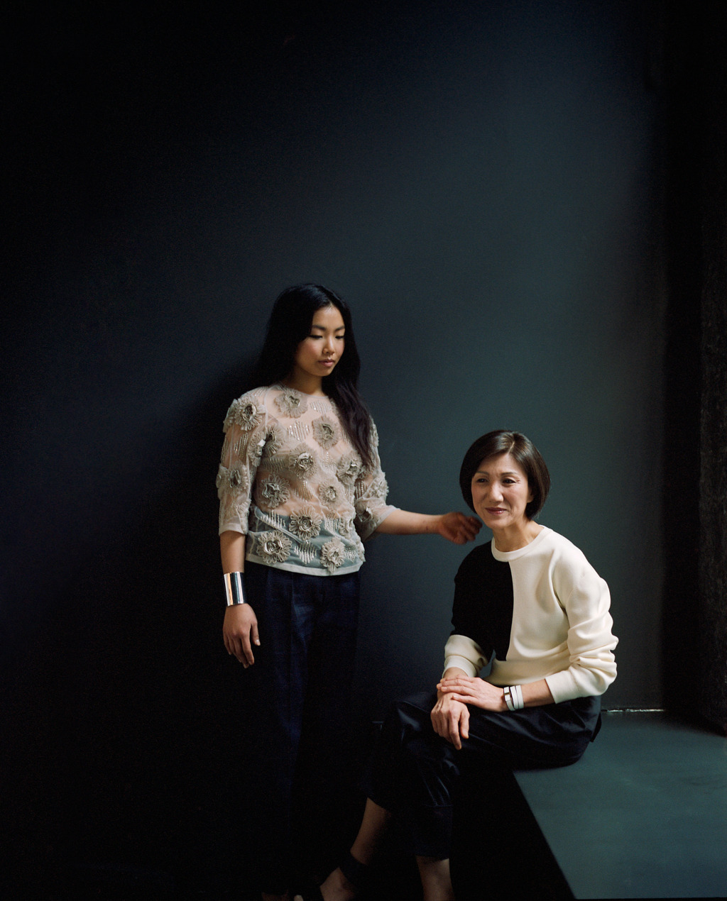 alexihobbs:  Mi Kyum Kim and her daughter, Jessica WeeMontreal, 2013  THAT LIGHT. DAMN GURL!