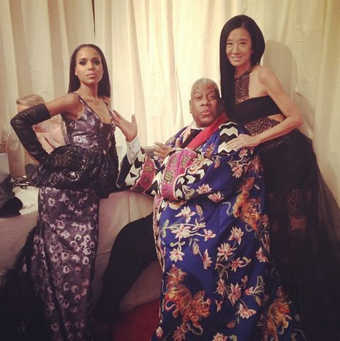 I can't. This photo is too much. Kerry Washington, André Leon Talley and Vera Wang at the Met Gala.