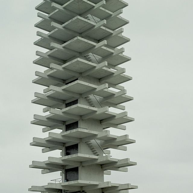 hiromitsu:  Tower by shuji+ on Flickr. 駒沢公園オリンピック記念塔  the climb