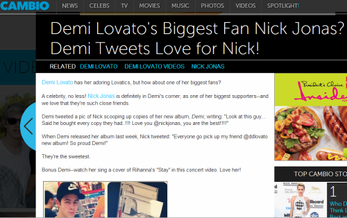 @Cambio: Who is @ddlovato's celeb superfan? http://aol.it/YUNB0E
