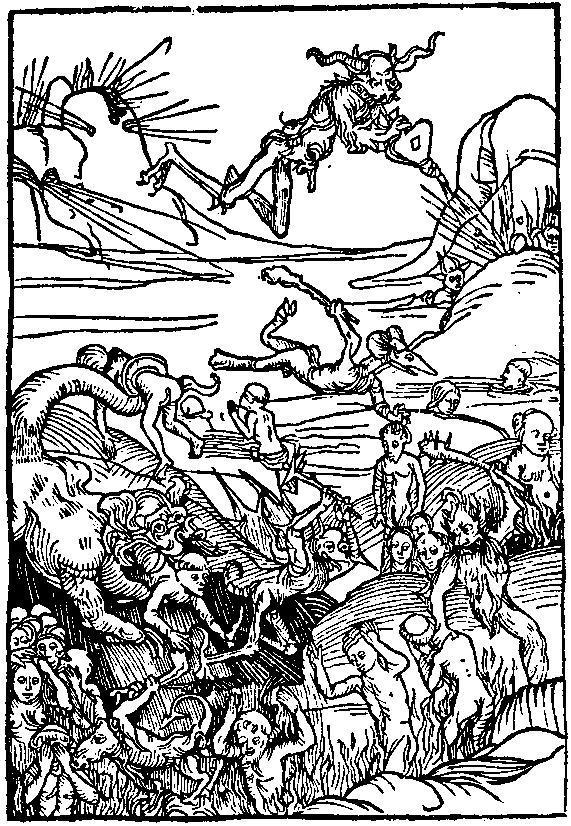 sagan-indiana:  The demonic hordes of Hell catching the souls of sinners. From Warning vor der falschen lieb dieser werlft, printed by Peter Wagner, Nuremberg, 1495.