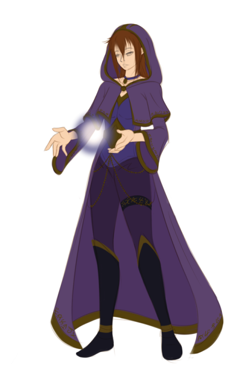 becoming-a-summoner:  (WIP of Jillian in her official summoner robe… For all those, who are curious  how she would look like some years after her apprenticeship! (and yes, she'll pass! XD)