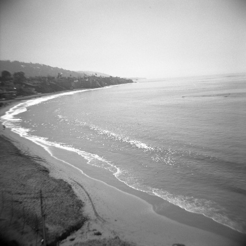apassingbreeze:  this curvaceous earth on Flickr.Laguna Beach, CA Diana F+, Kodak PXP 125iso film expired 4/1997