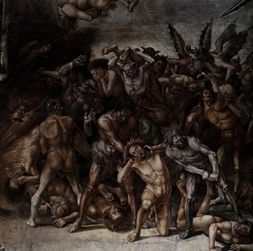 sakrogoat:  Luca Signorelli - The Damned (detail)