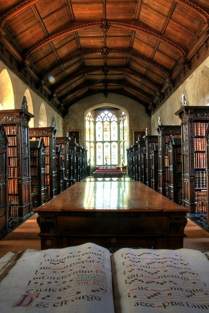 St John's College Old Library, Cambridge, England photo via nobuo