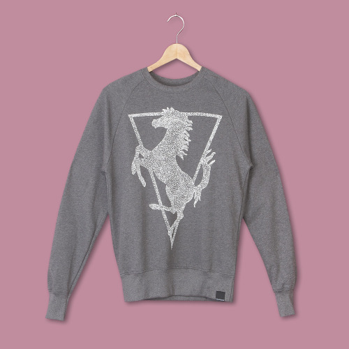 tktgysmr:  (via MILLIONHANDS - WHITE HORSE GREY SWEATBR R&S x MH BR (RAS-09))