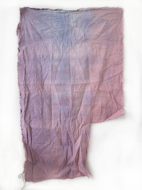 'Mauve' Dye on Linen, (dimensions variable) 2013