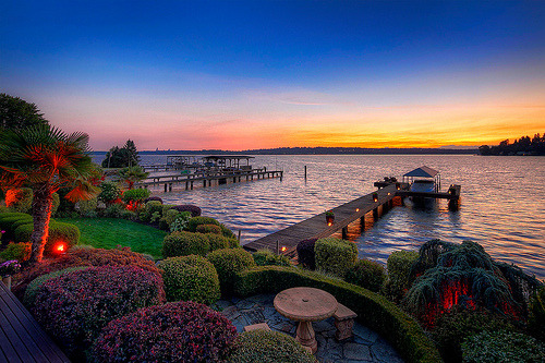 Dusk, Kirkland, Washington photo via neighbor