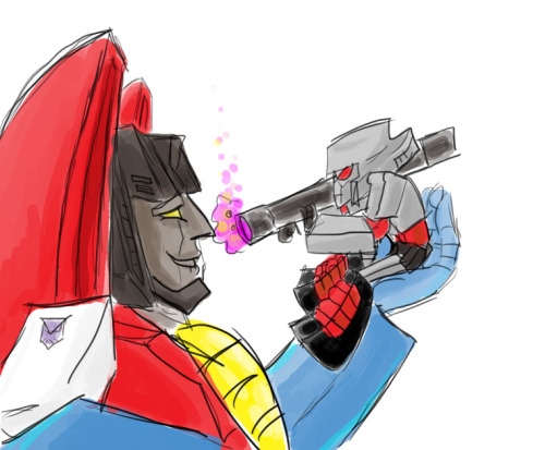 rombomb:  I have a thing for proportionately sized gun!megatron. sometimes i get the feeling I'm one of the few who really likes the gun alt mode and thinks it's kind of appropriate for the character. but that headcannon nonsense of mine is for another day.