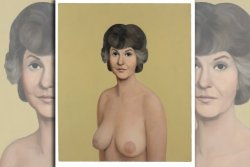 Il bigottismo esasperato di Facebook. newsweek:  This painting of Bea Arthur's boobs got us booted from Facebook for 24-hours. They said it was a mistake—nude art is allowed, it turns out.