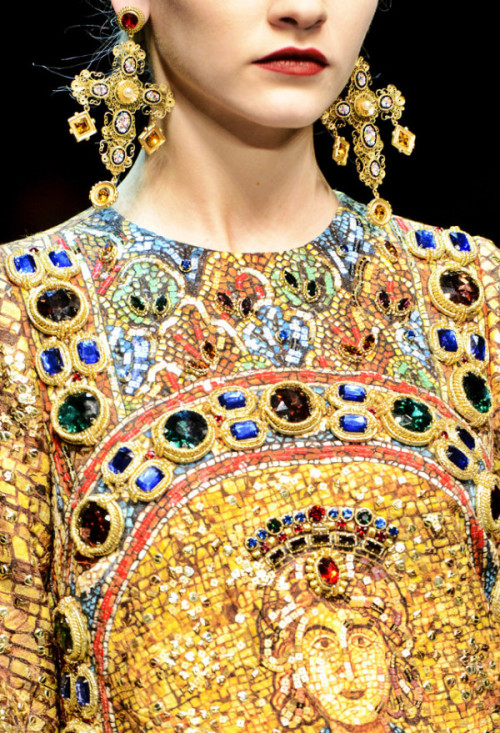 mylittleinferno:  Byzantine Empire inspired fashion by Dolce and Gabbana