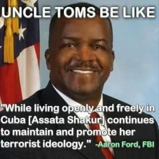 myshinysoulx:  Really though. Smdh at this Uncle Tom ass race traitor!  His employers are the reason Assata is in this predicament today. Does he know about COINTELPRO?  I wish Malcolm were still alive, slap fire out his ass!