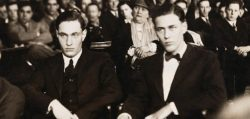 todayinhistory:  May 21st 1924: Leopold and Loeb kill Bobby Franks On this day in 1924, University of Chicago students Richard Loeb and Nathan Leopold Jr murdered 14 year old Bobby Franks. The pair killed the boy as a 'thrill killing' in their attempt to perform the perfect crime. However, the two were caught and put on trial. They used their wealth and influence to hire famous defence lawyer Clarence Darrow who argued the pair could not be held morally accountable because they had been raised thinking they were superior and thus are not to blame for their actions. He was successful, and the men avoided the death penalty, instead getting life imprisonment.